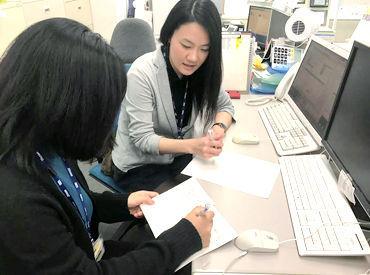 人財開発課のメンバーは、社員合わせ数名程。 20~40代のスタッフが在籍し、 分からないことがあればすぐに聞ける雰囲気です◎