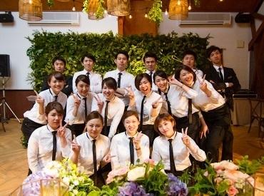 【ブライダルスタッフ】*◆『The Sally Garden』でサービススタッフの募集◆*ここでしか体験のできない感動を★\週0~OK/