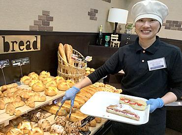 【パンの販売STAFF】~ ふわっとパンの良い香り♪ ~パン作り・販売をお任せします!未経験でも始めやすい!⇒気さくなスタッフが多い店舗です★