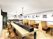 シンプルでありながらデザイン性の高い家具や、観葉植物など、Cafeのような落ち着いた空間で、心穏やかにはたらけます◎