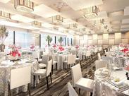 ラウンジ、ウェディング、宴会、受付レセプション、レストラン…様々なお仕事あり♪ 一流の接客マナーが身につきます◎
