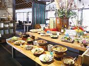 ビュッフェ形式だからお仕事もかなりシンプル♪ #ヘルシー和食中心 #地産地消 #お野菜たっぷり #まかないも♪