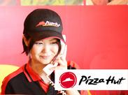 CMでも有名なピザハットのピザをお届けしませんか?インストア・ポスティングも同時募集♪働きやすい環境を整えています◎