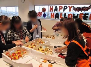 \福利厚生充実/ 感染症対策万全で ケーキパーティーなども行ってます♪ イーウェルはイベント盛りだくさんで 働きやすさ抜群!