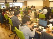 一緒に働くメンバーの国籍も中国・韓国・アメリカetcさまざま♪国籍/経験不問!グローバルな環境で、楽しく働けるチャンス★