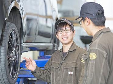\私たちSTAFFが丁寧に指導します/ 車に関する知識はなくてもOK! 未経験からのSTART大歓迎です!