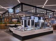 海外の空港店舗のコンセプトのまま、キャビアやシャンパーニュを手軽に楽しめるお店です♪飲食店での勤務が初めての方も大歓迎☆