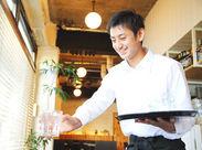 男性スタッフ活躍中★ 経験を活かして働いてみませんか? 将来、自分で飲食店を経営してみたい方にオススメ!