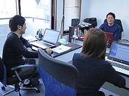 少人数オフィスなので風通し抜群!働きやすい環境です♪