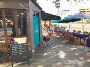 【好立地】広島駅からも街からも近い♪ 【レア】水辺のオシャレなオープンカフェ♪ 【短期OK】まずはお試し勤務も大歓迎♪