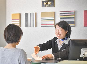 観光客で賑わうホテルヽ(=´▽`=)ノ 海外からのお客様も多く、あなたの英語スキルを活かすチャンス! 未経験の方も大歓迎です☆