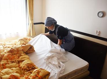 【ベッドメイクSTAFF】゜*。大手ホテルならではの高待遇。*°★寸志あり★従業員割引あり★有給取得実績あり★面接時にお仕事見学OK