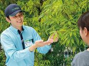 ◆庭木や植物が好き!!そんな方歓迎◆未経験の方も安心できるよう、 研修+サポートをしっかり実施します◎