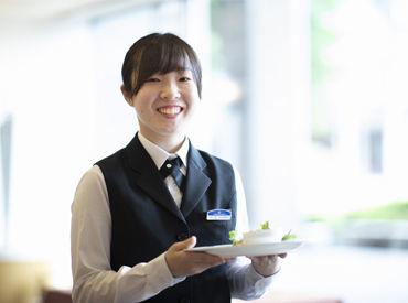 \ホテル内にある直営レストランでのお仕事!!/ 朝・昼・夜と勤務時間も選べる♪ 空いた時間を有効活用☆