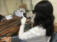 取引先はメーカーから大学、研究所まで様々です。