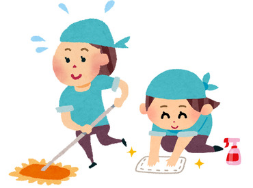 【日常等清掃スタッフ】<チーム制でのお仕事>▼すぐに教えてもらえる環境◎▼昇給・有給休暇あり!2人以上での勤務なのでフォロー力抜群♪