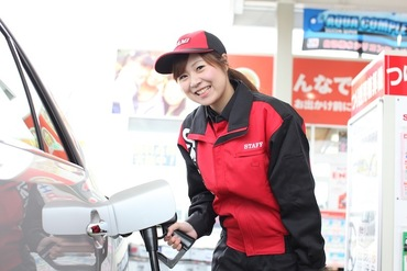 【ガソリンスタンドスタッフ】車の免許がなくても、ガソリンスタンドに行ったことがなくてもOK!働きたい時間と曜日を決めて応募してくださいね!