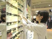 「人と話すことが好き」な方なら、接客経験は必要ありません! メガネに詳しくなくても問題なし!