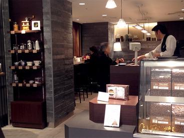 【店舗STAFF】★銀座松屋でオシャレに働こ★「コーヒー好き」「詳しくなりたい」理由は何でもOKです♪週3~OK!安定して働きたい方に◎
