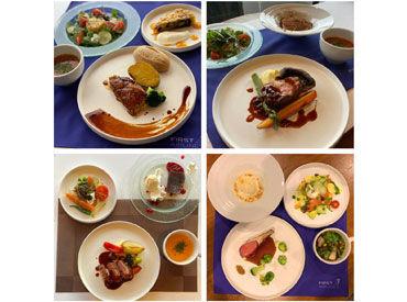 機内食は超本格的! トリュフやフォアグラなど豪華食材を使用しています**