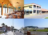 南イタリアを彷彿するようなあたたかな店内♪134号線沿い&江ノ島駅スグでアクセスも抜群です!テラスから見える江ノ島も☆