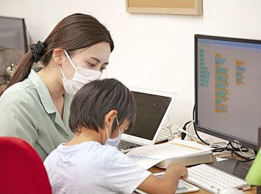 今注目のプログラミング教育を通して子ども達の将来の可能性を広げましょう!子どもと一緒に考えて指導できる方、大歓迎♪