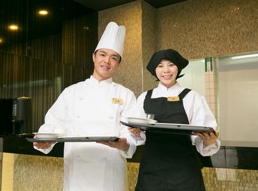 【レストランSTAFF】◆当ホテル自慢の朝食バイキングを100円で食べられる!人気の待遇です♪◆将来正社員を目指している方には正社員登用もあり♪