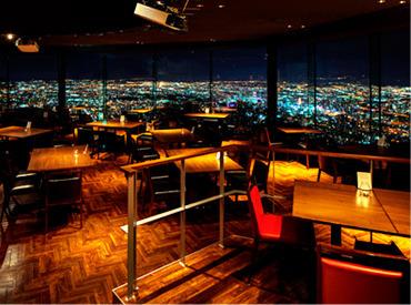 【ホールStaff】標高531m藻岩山山頂にある\【展望台】レストランです★*/夜景を一望できるオシャレなお店でお客様に素敵な時間をご提供♪