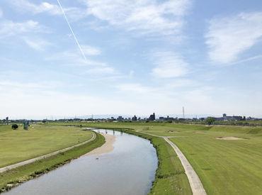名古屋市北区にある庄内川ゴルフ倶楽部★ 車やバイク、自転車で自由に通勤していただけます♪ 駐車場も無料です!