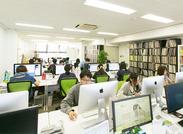 制作スタッフは社内に40名程度♪スキルがある学生さんも活躍中!