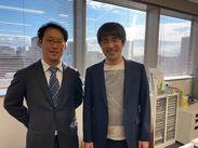 (写真右)代表の小澤と(写真左)税理士の山田です!ぜひ、あなたの経験を生かして一緒に頑張って行きましょう♪
