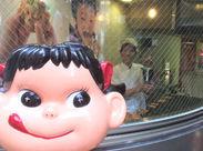 《店先でペコちゃんと一緒にお菓子作りデビュー♪バイトデビューも大歓迎◎》面倒な履歴書もナシでOK⌒☆