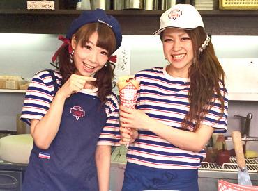 【クレープ販売】☆ 野球好き注目!?かわいいコラボも! ☆ふわふわ&もちもちのクレープ作り♪東京ドームで春のNEWバイトをスタート◎