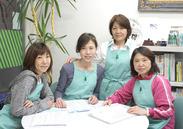 主婦さん活躍中!融通のきくシフトが大好評!「人」を大切にする会社なので、とても働きやすく、10年勤めているSTAFFもいます!