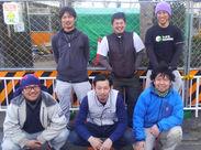 6名の作業スタッフ、協力してくれる職人さん、現場はいつも笑顔☆動きやすい私服OK!作業着補助もあります♪ヒゲなども自由◎
