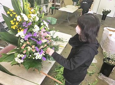 マニュアル通りにお花を活けていくお仕事♪ 未経験さんもスグにきれいな商品が作れるように☆*
