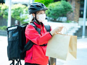街を歩いてステキなお店を見つけたら… 『デリバリーサービス始めませんか?』 その出会いが、あなたのお仕事♪ ※人物はimage