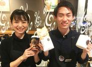 地元の方はもちろん観光客の方もいらっしゃったり楽しみながら接客できます★※写真はタリーズコーヒー 新宿オークタワー店です