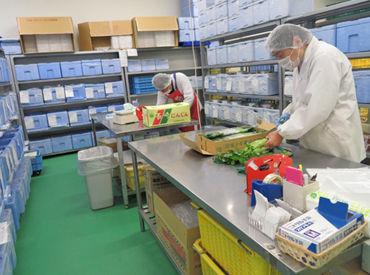 【食品の仕分け】野菜や果物を数えたり、切り分けたり…♪シンプルなお仕事☆工場は移転したばかりでとってもキレイ◎お得な社員割引もあり!