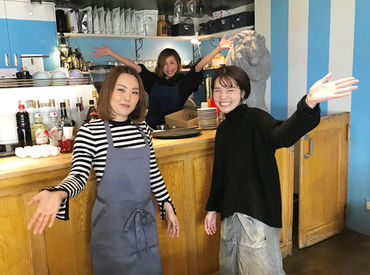 \\*☆ Welcome ☆*// 右側が店長です(*´∀`人´∀`*) ワクワクしながらみなさんのご応募をお待ちしてますね(*´∀`*)