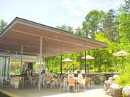 自然豊かな森の中にある癒しのカフェ*マイナスイオンたっぷりでなんだかちょっと気持ちもスッキリしながら働けます◎
