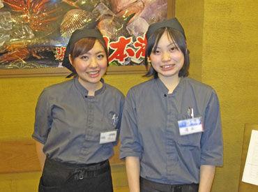 【居酒屋スタッフ】お寿司と和食が自慢≪週2日・3h~OK≫みんな一緒のスタート♪一緒にワイワイ!