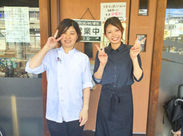 オシャレでアットホーム♪スタッフ同士も和気あいあいと仲良しです☆彡お客様の「美味しい」がやりがいです(^ω^)