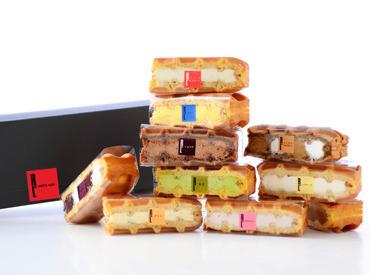 スタッフも大好き♪R.Lのワッフルケーキ 色とりどりのかわいいワッフルに囲まれて 一緒にお仕事しませんか?