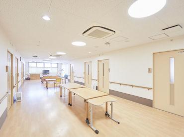 \2001年にできた綺麗な施設です/ 施設内の清掃は、業者が入っているので、 介護業務だけに集中していただけます!