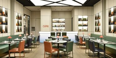 ミラノのアルマーニ カフェで採用している最新コンセプトを取り入れた 「心斎橋パルコ店」だけのイタリアンラグジュアリー空間♪