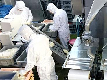 """松崎製麺工場""""では、小中学校に給食麺をお届けしています*「埼玉学校給食指定工場」に認定されている安定企業です!"""