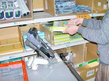 文房具を検品・仕分け・梱包し出荷の準備をお手伝い♪ 未経験の方でも簡単に始められるお仕事内容です◎
