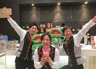 【ホールSTAFF】カエルのマークが目印の『YAMASA』直営店で働こう♪未経験OK!パチンコ未経験&女性も多数活躍!!研修から、高時給1200円~!