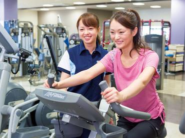 【スポーツジムSTAFF】身体を動かして楽しく稼ごう◎運動を通してお客様を笑顔にしませんか?スポーツクラブ施設・天然温泉など空き時間に利用可♪